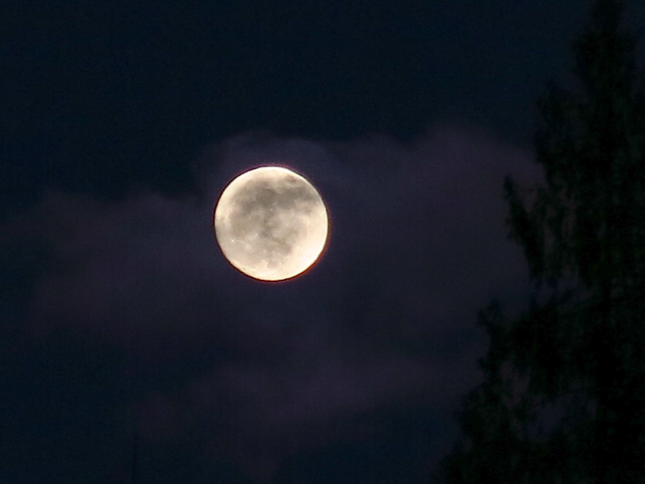 A break in the clouds allows us to see the moon on January 25.