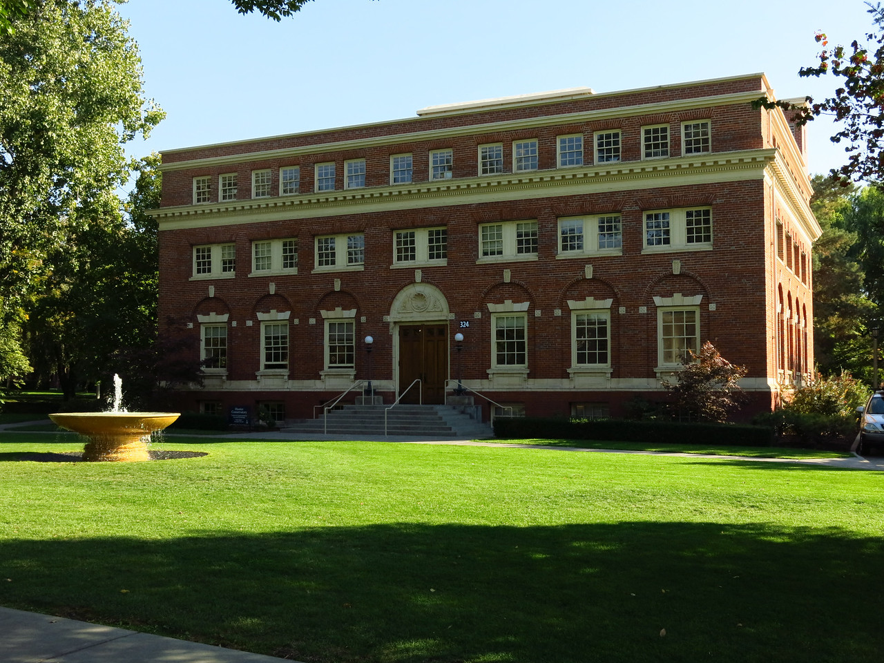 A building on the Whitman campus.