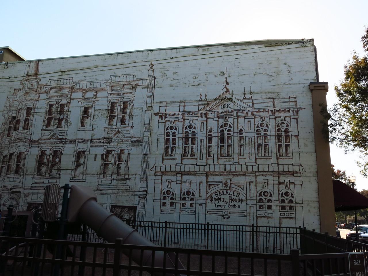 An interesting mural on a building on Main Street in Walla Walla.
